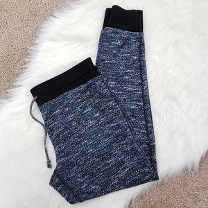 Cozy strtchy marled blue jogger sweatpants